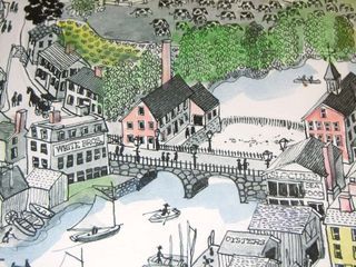 Warwick cottage photo - Local artist painting of old Pawtuxet Village - by Maxwell Mays