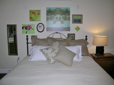 600 and 800 thread count linens, feather and down pillows.