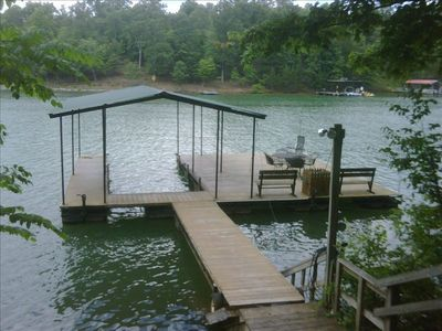 Floating Dock with swim platform and ladder
