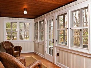Rhinebeck property rental photo - Screened sunroom has separate dining table and seats 6.