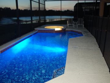 LED lighted pool