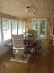 Crescent Lake cottage photo - Sun room & dining room. Seats 8 for lakeside dining!