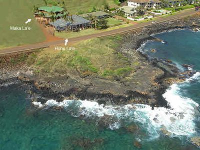 Poipu house rental - Honu La'e Aerial (During Construction)