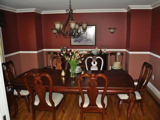 Kennebunkport house photo - Ample dining room with extra chairs