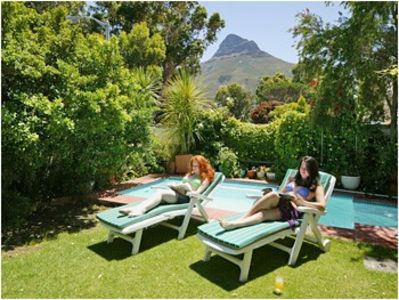 Camps Bay villa rental - Garden and pool