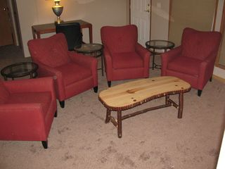 Sturgeon Lake lodge photo - Great TV lounge for watching TV or playing cards!
