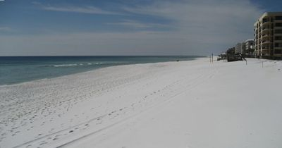 The pristine sandy white beach of Okaloosa Island...just steps from your condo!