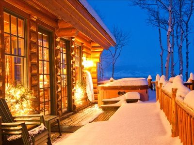 Teton Village house rental - Entry level deck with snow melting heated mats