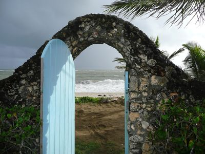 Private exit to the beach.