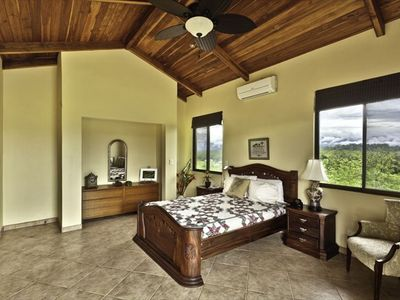 Queen Bedded bedroom 2nd floor with private bath Fabulous Ocean view Terrace.