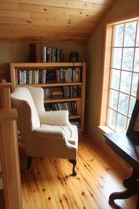 Mont Tremblant chalet rental - Upper library, view of Mont Tremblant south side