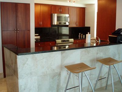 Kitchen area with full amenities.