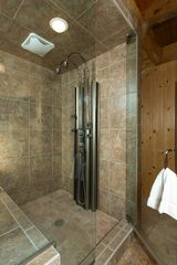 Jackson Hole lodge photo - Master steam shower with 7 sprayers, enough for any trail dirt.