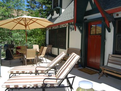 Relax on the deck w/ lounge chairs, bistro set, 6 person table, BBQ and benches!