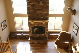Fireplace / Living Room from Loft - Bryce Canyon house vacation rental photo