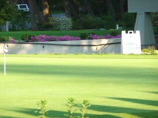 Twin Lakes condo photo - Practice green in front of the Pro Shop at the clubhouse.