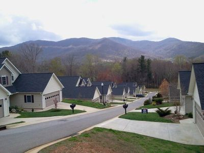 Swannanoa villa rental - View from front of patio home