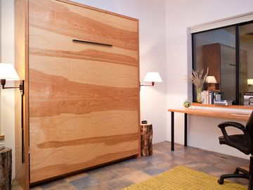 Queen Murphy bed in studio/ BR