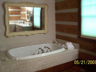 Black Mountain cabin photo - Master Bedroom Bath
