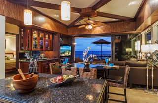 Maalaea condo photo - Professionally decorated living area overlooking ocean