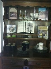 West Point lodge photo - Annual WPOC cookbooks on display!