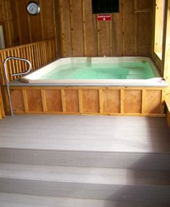 New this year Indoor hot tub on level 2