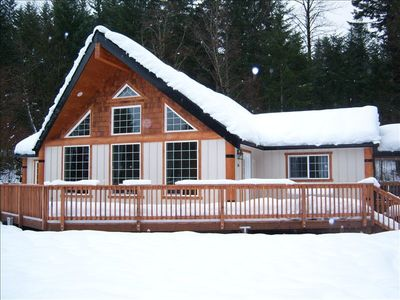 Packwood chalet rental - A Winter Wonderland, sled, ski, board, cross country, snow shoe White Pass!