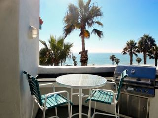 San Clemente condo photo - BBQ Area with Ocean View at the San Clemente Cove Resort