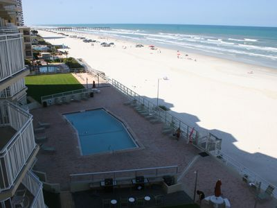 View from balcony facing north.  The driving beach ends 300ft to north
