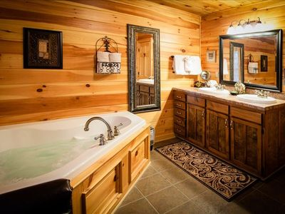 3 large private bathrooms with Jacuzzi tub & shower