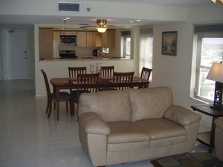 Looking back through Living, Dinning room, and Kitchen - Indian Rocks Beach condo vacation rental photo