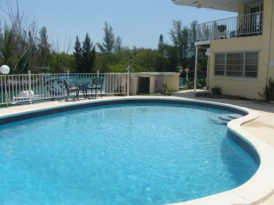 Our Private Pool Overlooks the Canal. We Also Have a BBQ Pit.