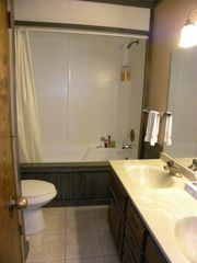 Granby condo photo - Roomy Bathroom with Oversize Tub and Double Vanity