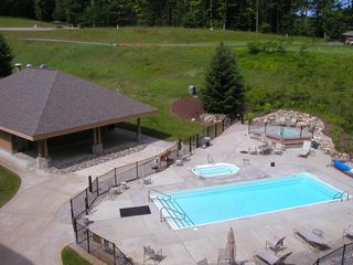 Bellaire / Shanty Creek condo photo - Cedar River pool in Summer