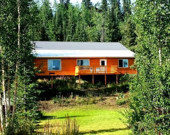 Chickaloon cabin rental - Enjoy lake and mountain views from your private deck!