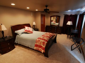 Large, private master bedroom suite... with lake view