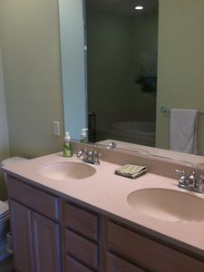 Master bathroon with double sink