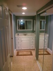 Hutchinson Island condo photo - Extra Hallway Vanity and full length Mirror makes for a Great Place to get Ready