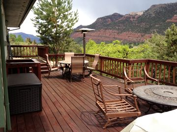 Durango estate rental - North view of Engineer Mountain and Silverton