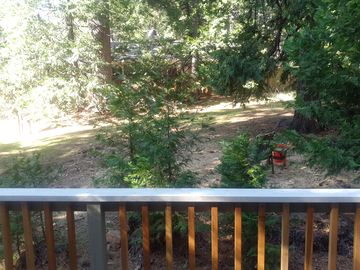 Mi-Wuk Village cabin rental - View from Back Deck