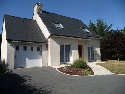Detached house in lotisssement private and quiet 10 minutes walk from the beach