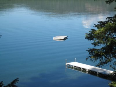 Dock, Floating Dock and Crystal Clear Water