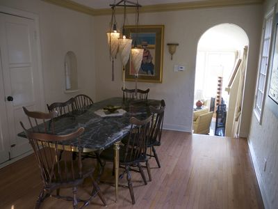 DINING ROOM (DOUBLE DOORS OPEN TO PORCH)