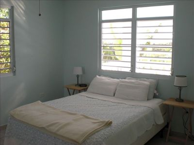 Rincon house rental - Bedroom with great mattress, queen bed, 100% cotton bedding