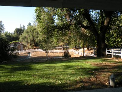 Front Porch view of nearest winery on Perry Creek & Pub just a few steps further