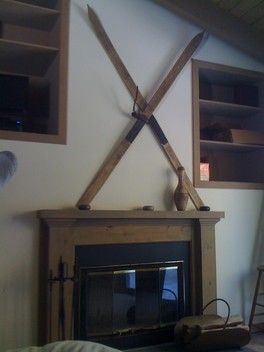 The Upstairs Bedroom fireplace