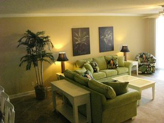 Oceans Mist Ocean City condo photo - View of left side of Living Room ( 2 full sized sofas)
