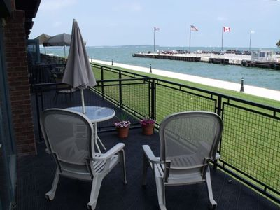 Sandusky Bay,  Lake Erie and Cedar Point viewed from your patio