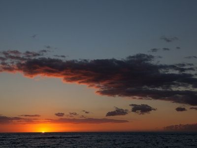 Puako house rental - That famous Hawaiian Sunset from your yard