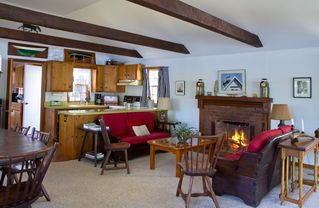 Vineyard Haven house photo - Kitchen and Fireplace